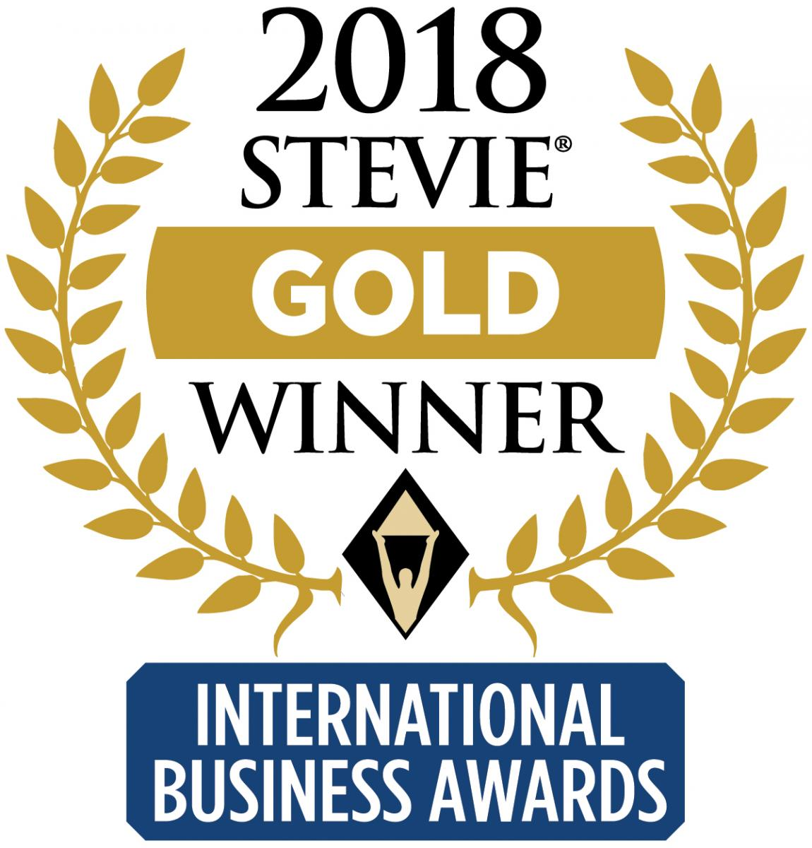 2018 Stevie Gold Winner
