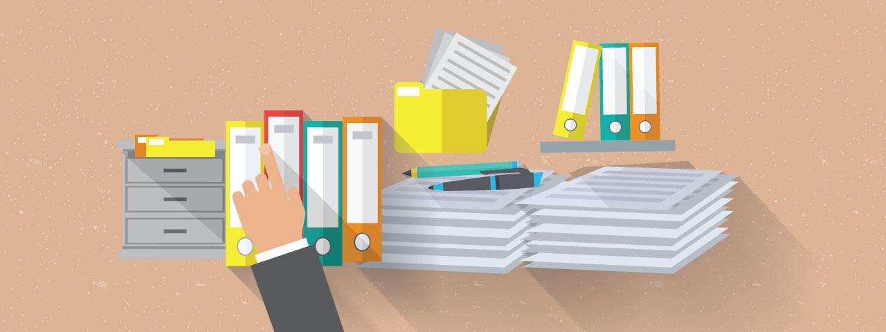 searching through legal supplies